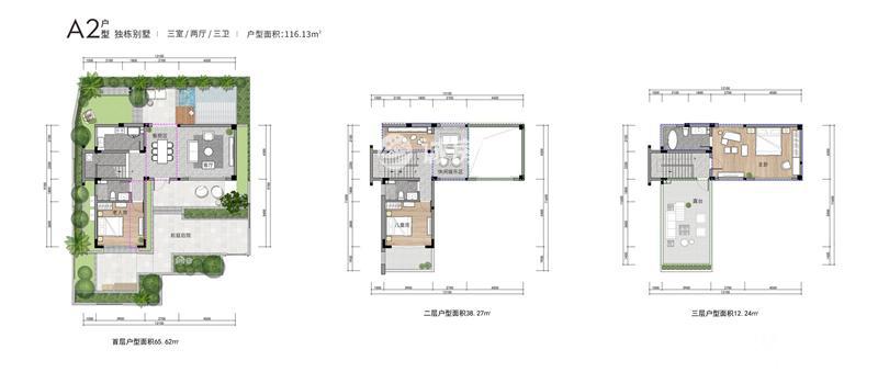 國安海岸3室2廳3衛 (建筑面積:116.13㎡)