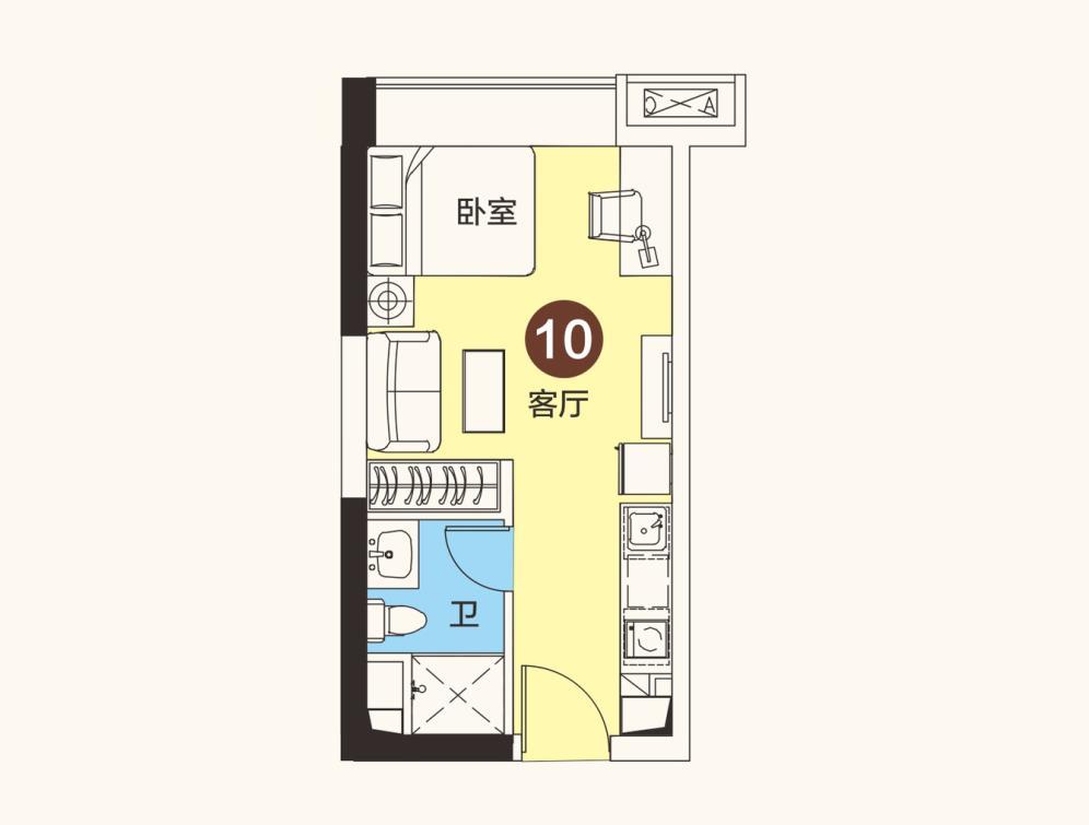 恒大海花岛1房1厅1卫