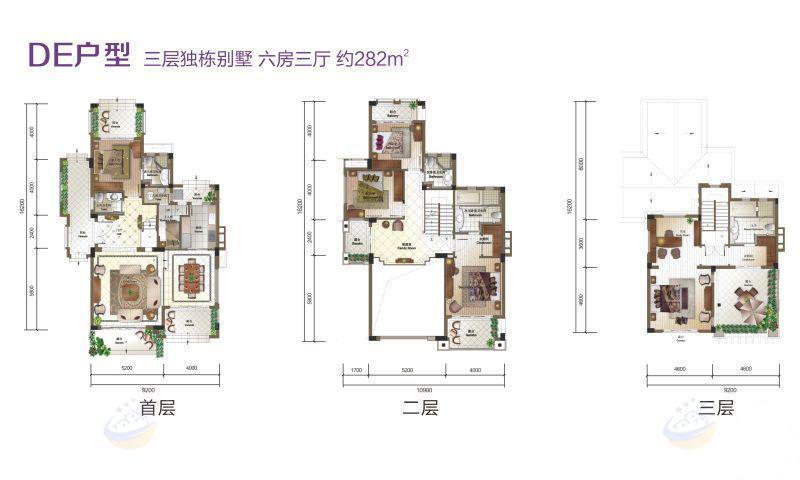 富力盈溪谷6房3廳 (建筑面積:282.00㎡)