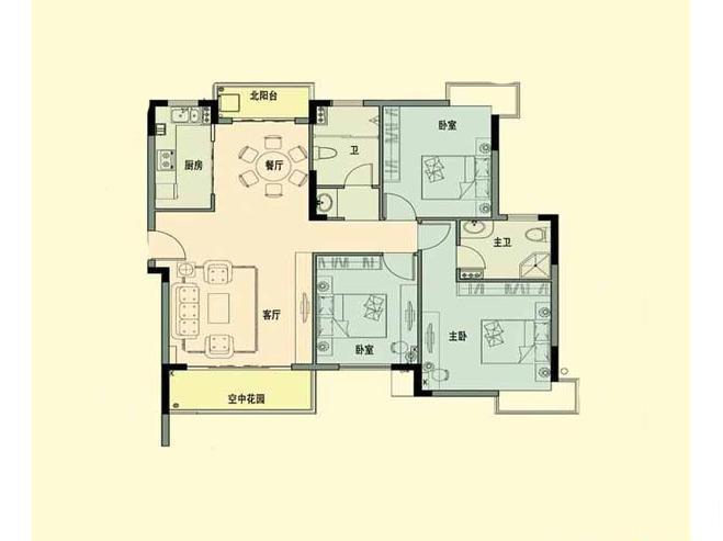 官塘世家3室2厅
