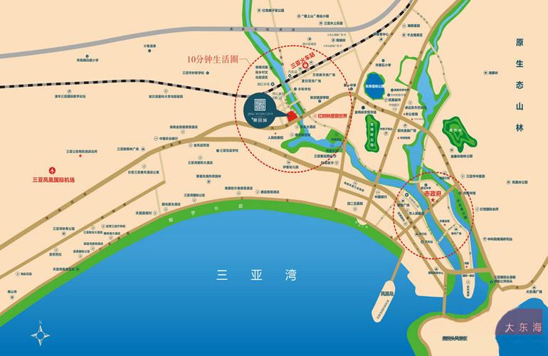 三亞景園城交通圖