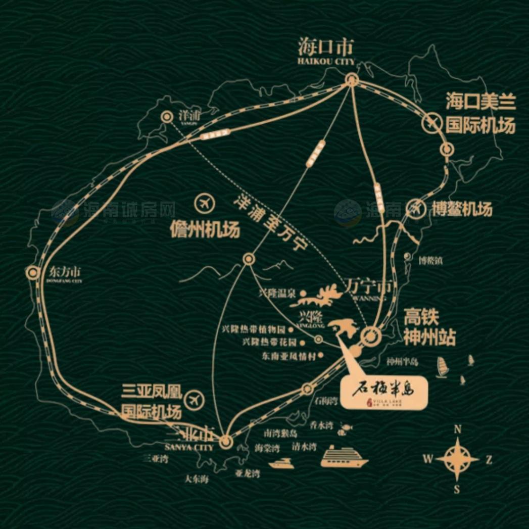 石梅半岛交通图