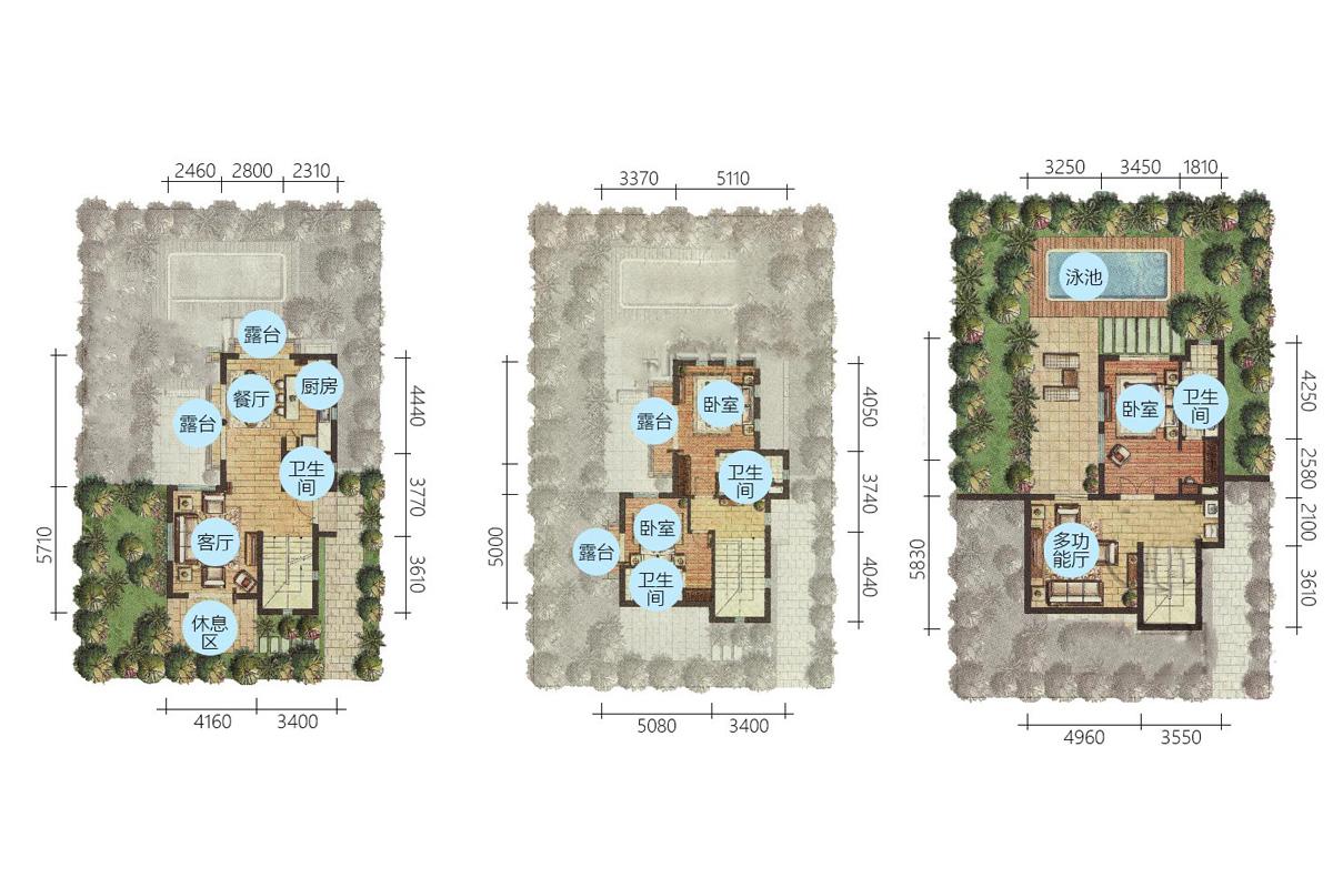 Aloha阿羅哈3房3廳1廚4衛 (建筑面積:130.00㎡)