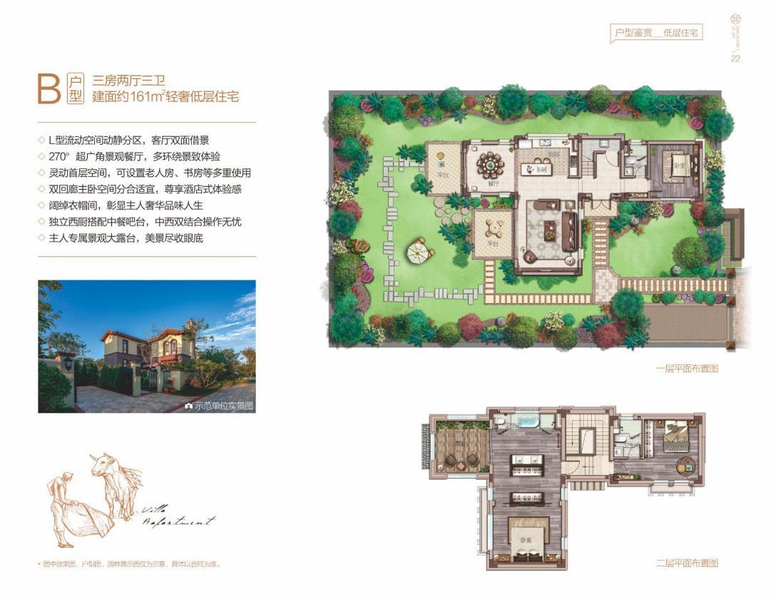 中海神州半岛3室2厅3卫 (建筑面积:161.00㎡)