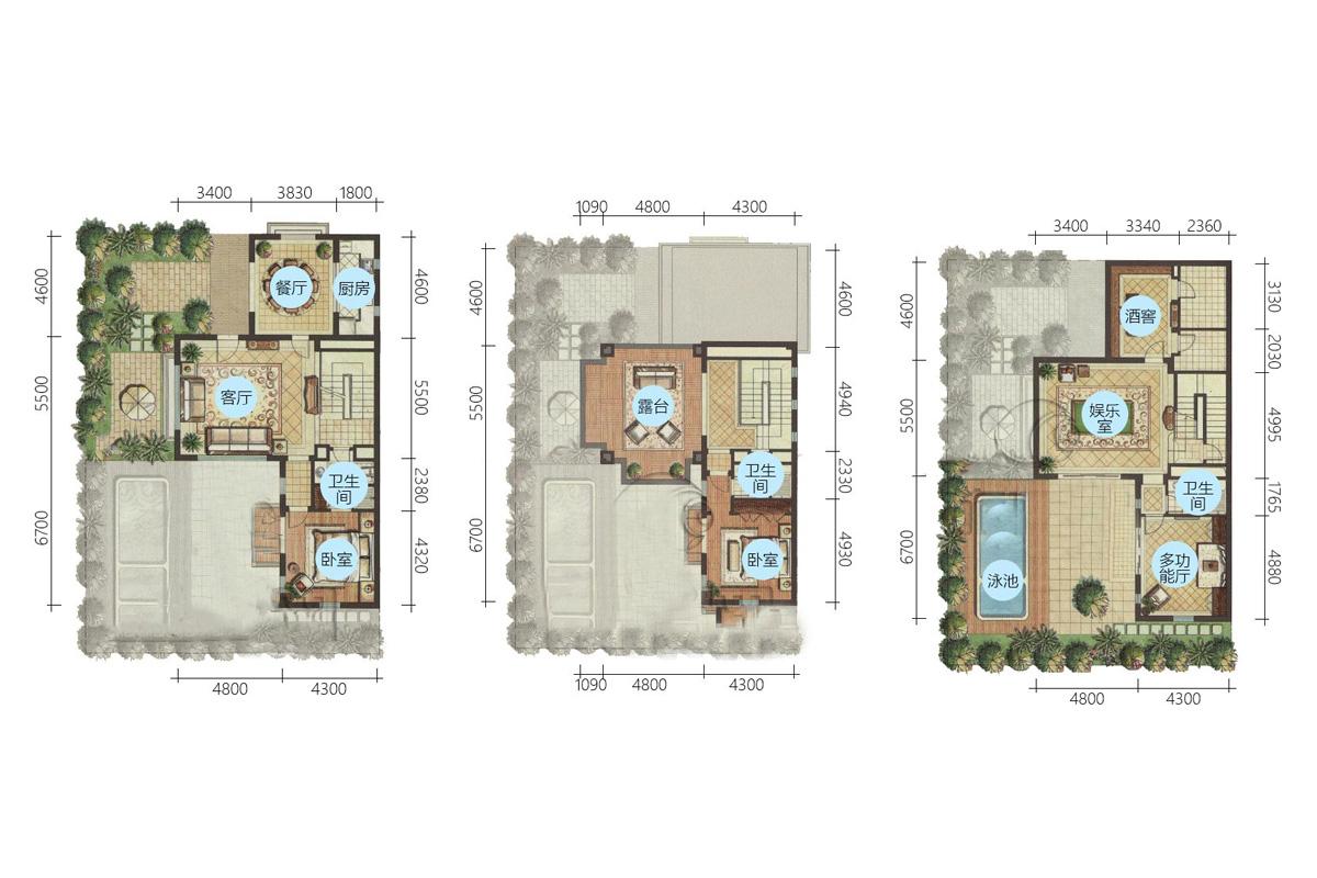 Aloha阿羅哈3房3廳1廚3衛 (建筑面積:159.00㎡)