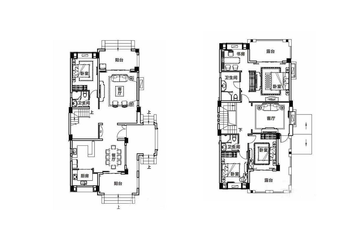 富力盈溪谷4室3廳3衛1廚 (建筑面積:240.00㎡)