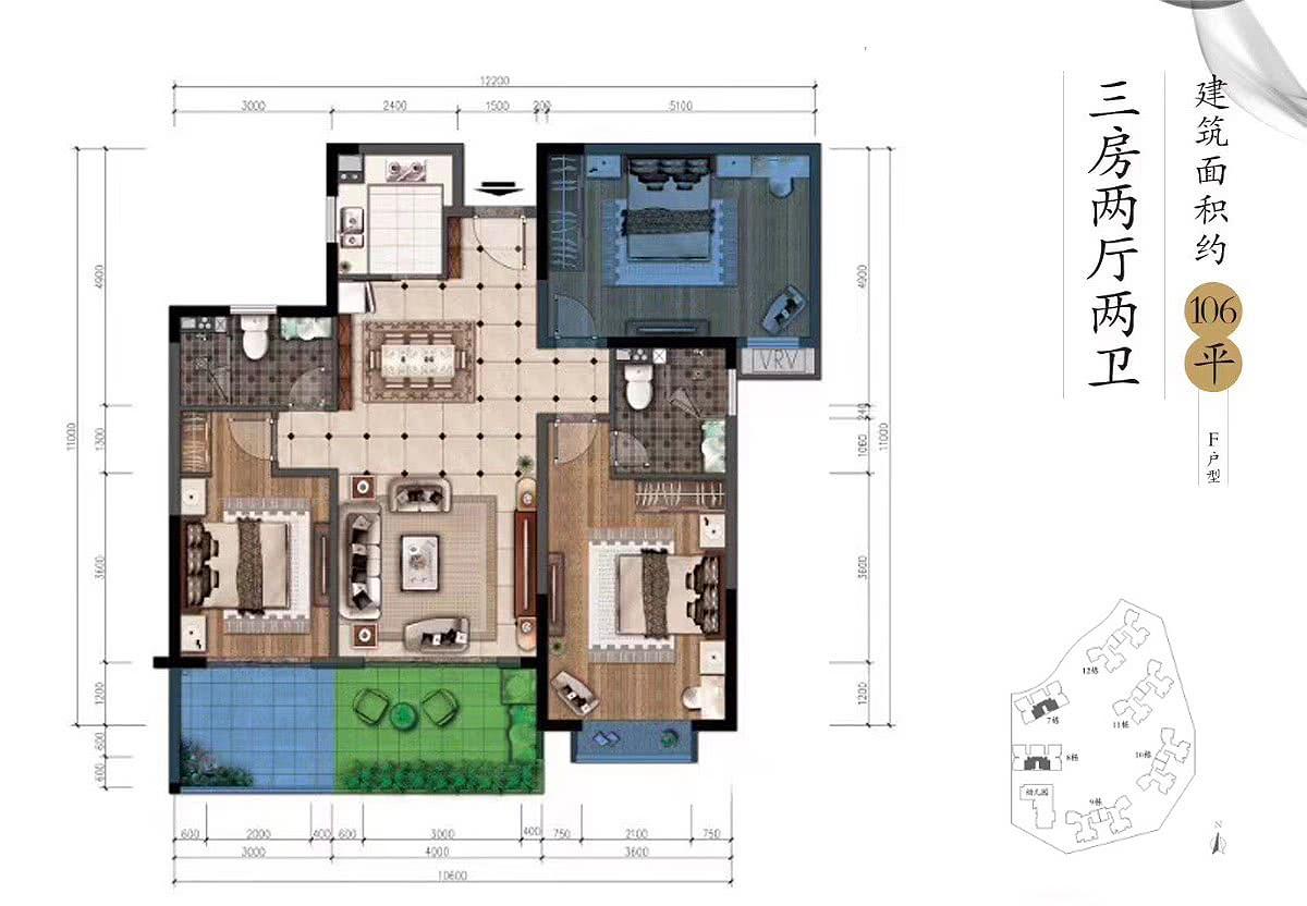 公园88号3室2厅2卫