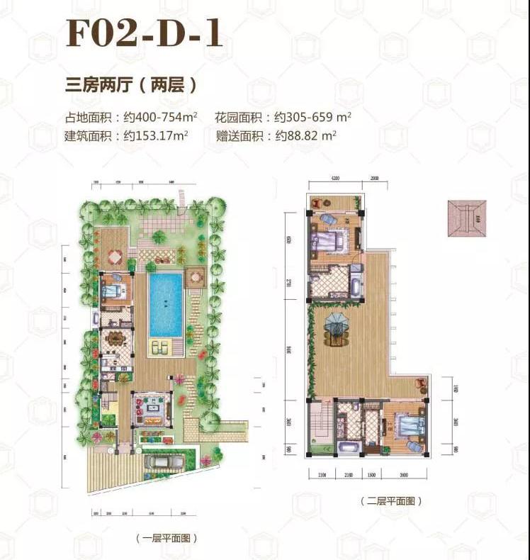 中铁诺德丽湖半岛三房两厅 (建筑面积:153.17㎡)