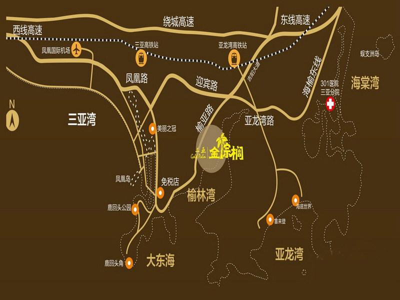 金棕榈金棕榈交通图