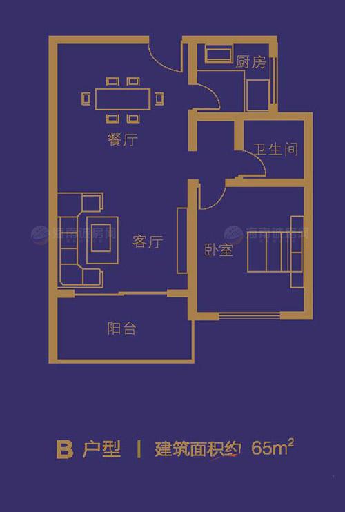 嶺秀金江1室2廳1衛1廚