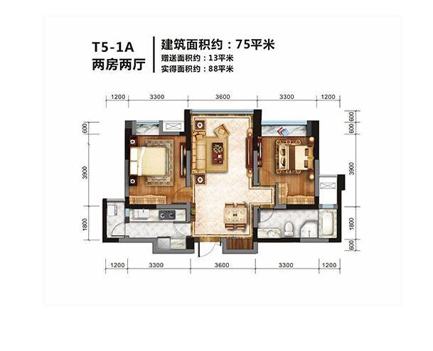 金棕榈2室2厅