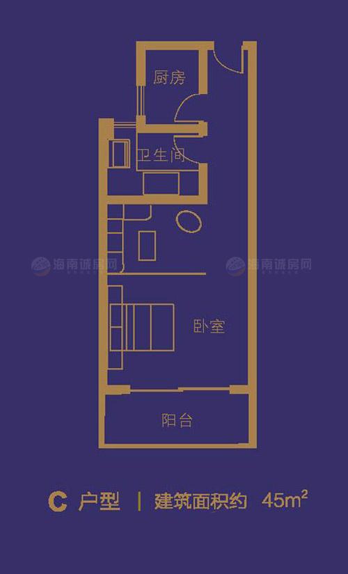 嶺秀金江1室1廳1衛1廚