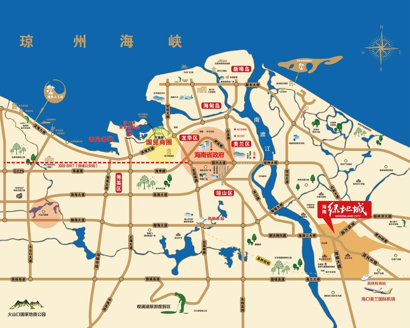 绿地城江东首府交通图