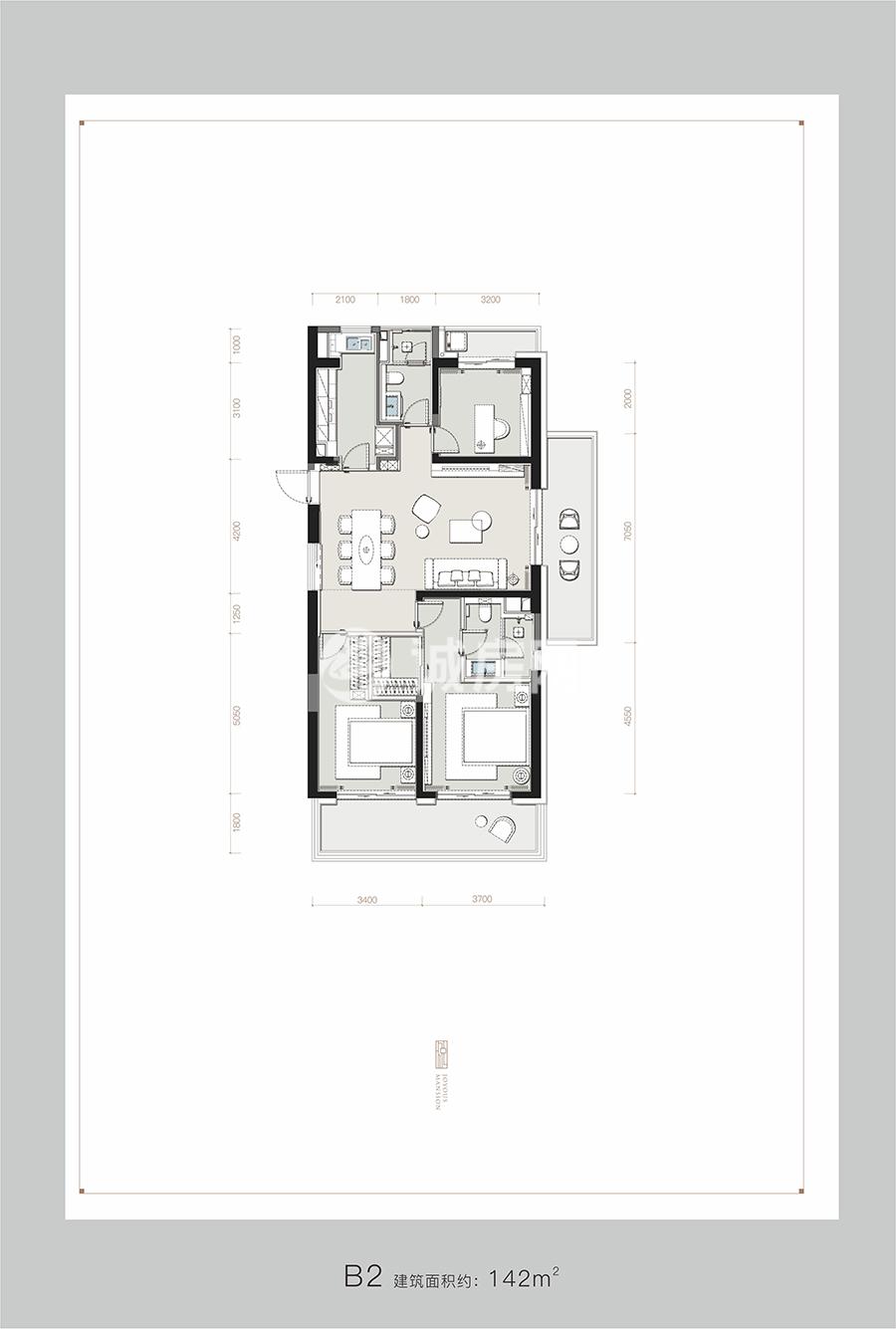 罗牛山玖悦台3室2厅2卫1厨