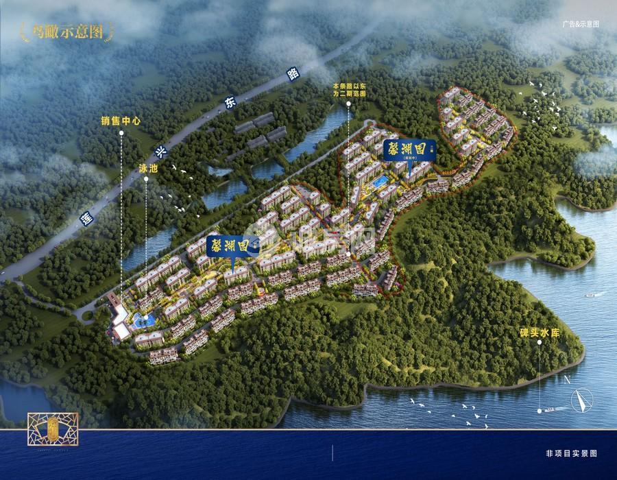 碧桂园兴隆湖畔鸟瞰图