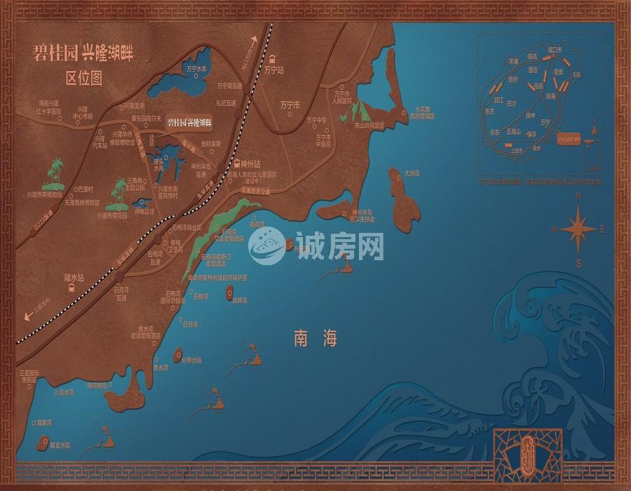 碧桂园兴隆湖畔交通图