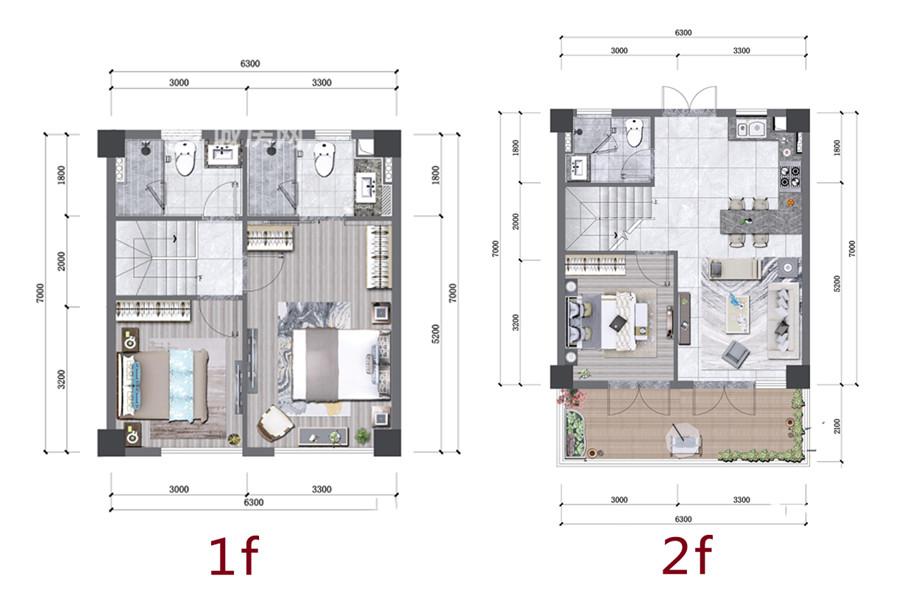 愛上山3房3衛2廳1廚