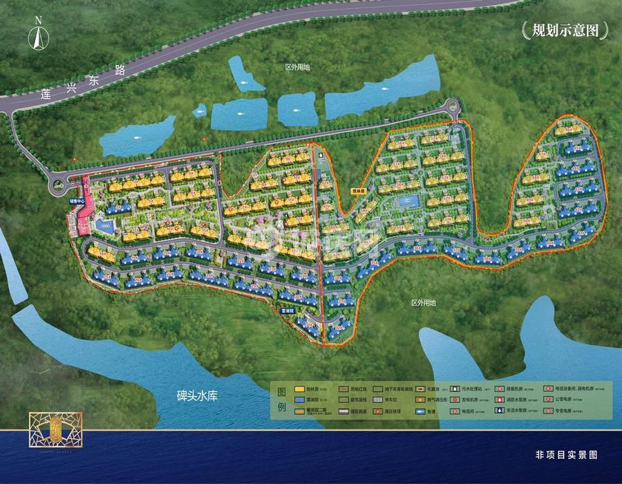 碧桂园兴隆湖畔规划示意图
