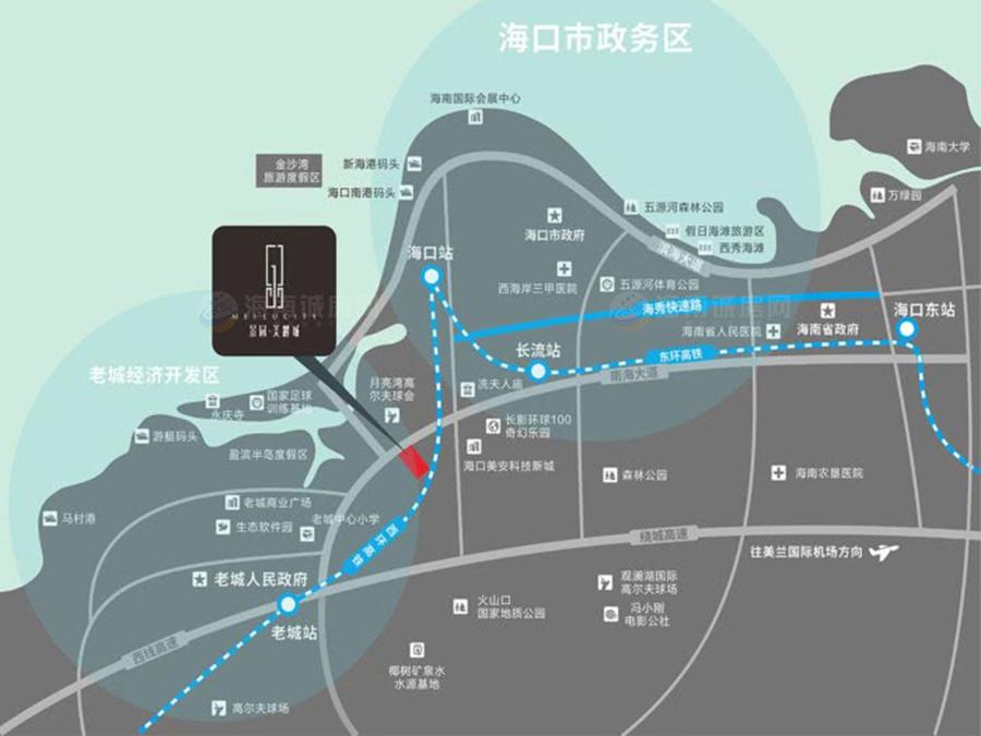 景园美麓城交通图