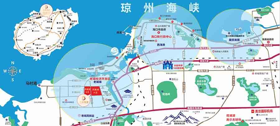 三永凤凰城B区交通图