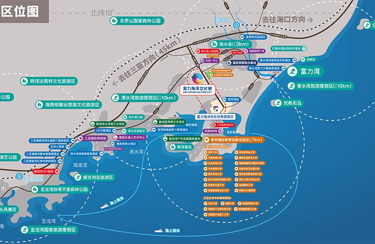 富力海洋文化城交通图