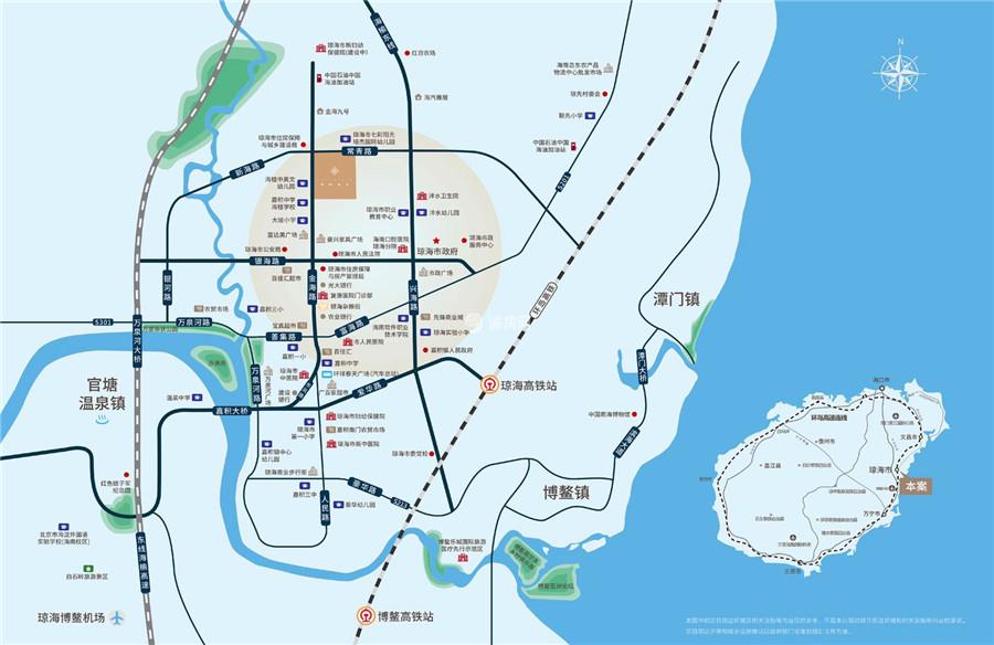 瓊海保利時代交通圖