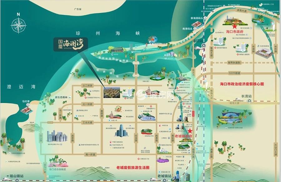国厦海澜湾交通图